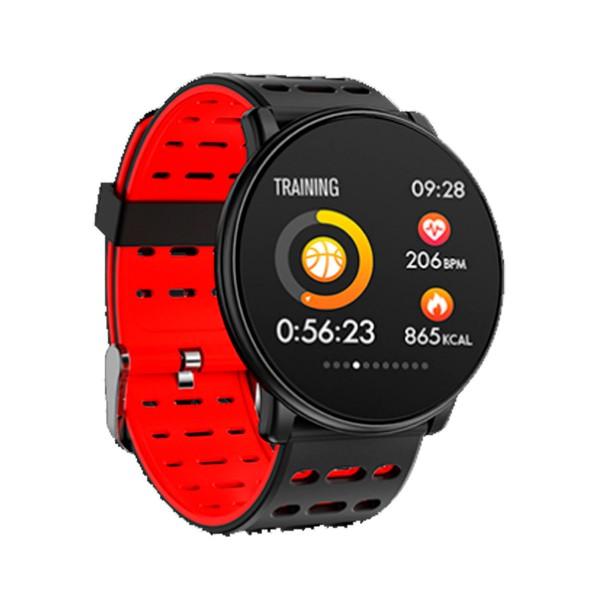 Innjoo rojo redondo sportwatch tft 1.33'' reloj inteligente deportivo bluetooth frecuencia cardíaca y presión sanguínea
