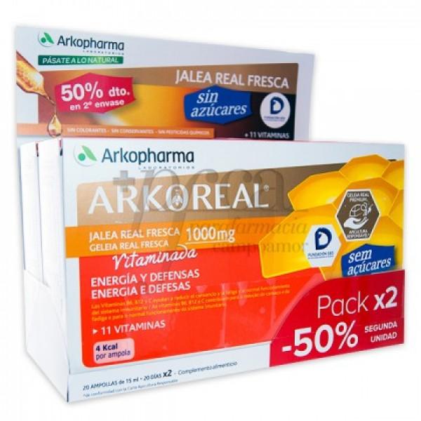 ARKOREAL JALEA R 1000 VITAMINADA 2X20 AMP PROMO