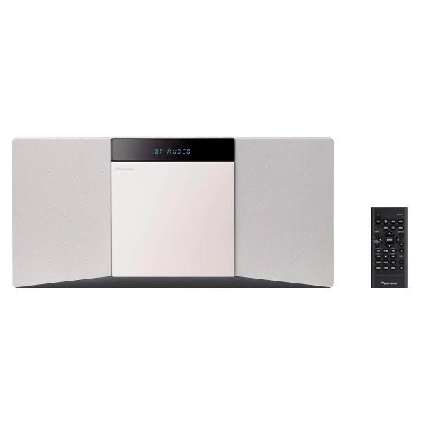 Pioneer x-smc02(w)cmp blanco  equipo de audio estéreo 10w cd bluetooth usb rds fm compato y delgado