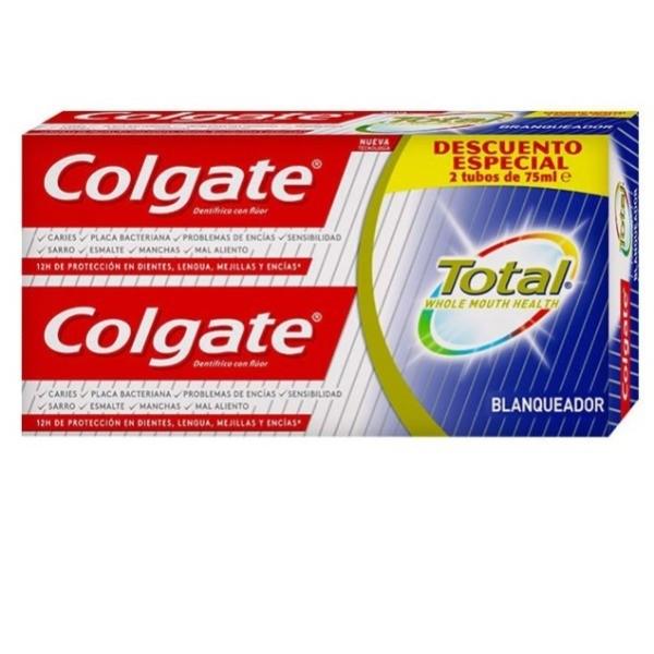 Colgate dentífrico Total Blanqueador 2 x 75 ml