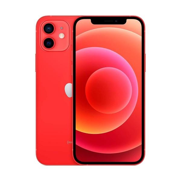 Apple iphone 12 rojo móvil dual sim 5g 6.1'' oled super retina xdr cpu a14 bionic 128gb 6gb ram dualcam 12mp selfies 12mp